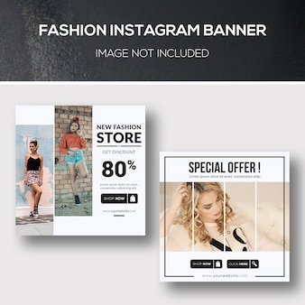 Bannière fashion instagram