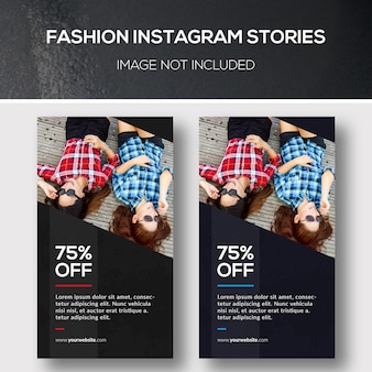 Bannière fashion instagram