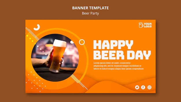 Bannière de fête de la bière