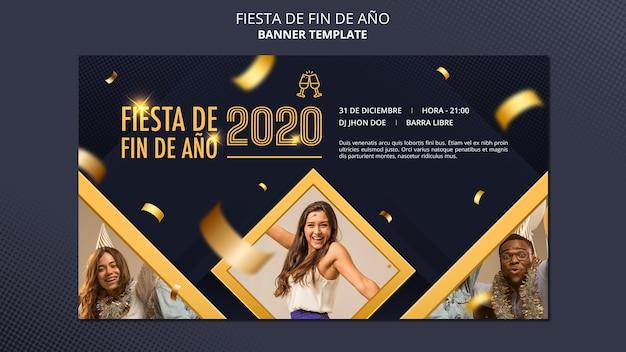 Bannière fiesta de fin de ano 2020