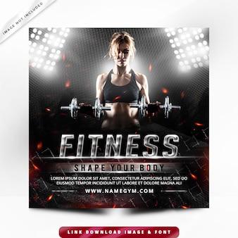 Bannière fitness post premium