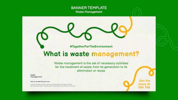 Bannière de gestion des déchets