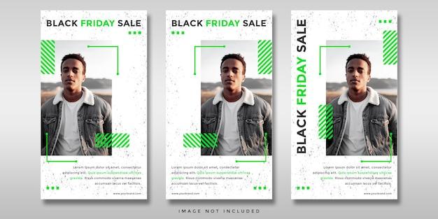 Bannière d'histoires instagram de médias sociaux de vente vendredi noir