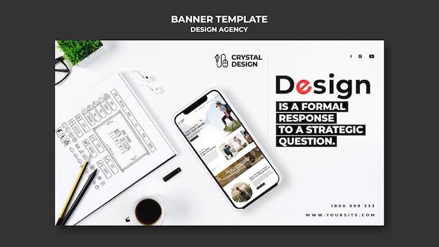 Bannière horizontale de l'agence de design