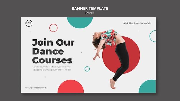 Bannière horizontale de classe de danse