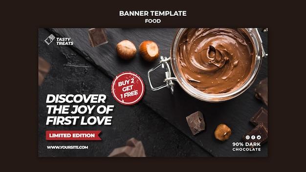 Bannière horizontale de délicieux dessert