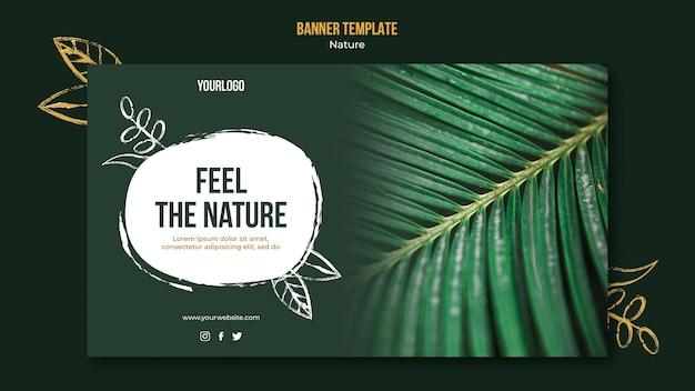 Bannière horizontale de l'événement feel the nature