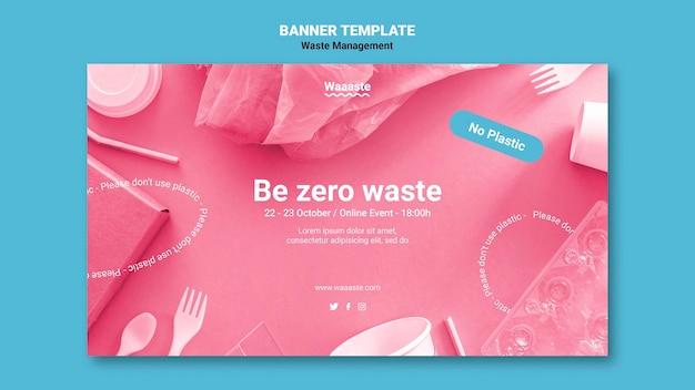 Bannière horizontale de gestion des déchets