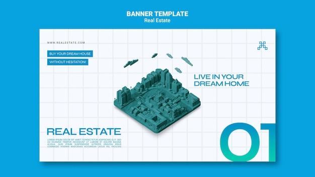 Bannière horizontale immobilière