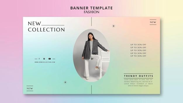 Bannière horizontale de la nouvelle collection