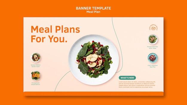 Bannière horizontale des plans de repas