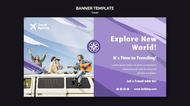 Bannière horizontale pour agence de voyages