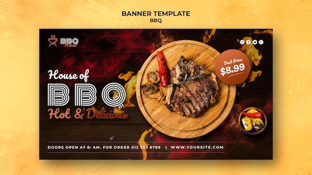 Bannière horizontale pour barbecue