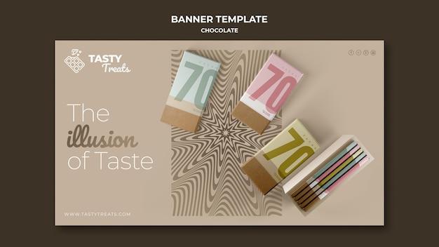 Bannière horizontale pour le chocolat