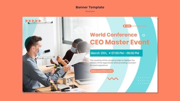 Bannière horizontale pour la conférence événementielle du chef de la direction
