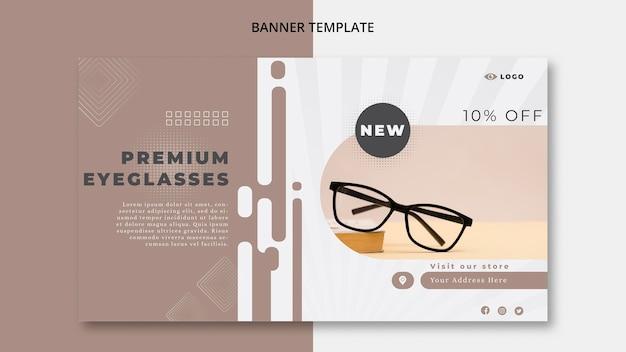Bannière horizontale pour entreprise de lunettes