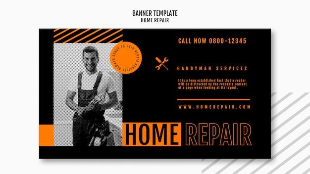 Bannière horizontale pour entreprise de réparation de maison
