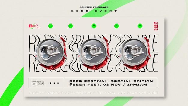 Bannière horizontale pour le festival de la bière