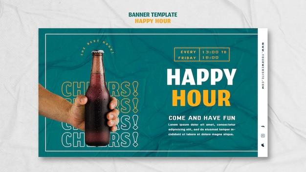 Bannière horizontale pour happy hour