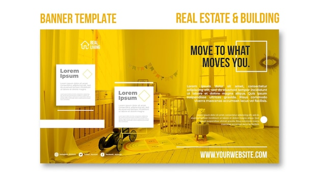 Bannière horizontale pour l'immobilier et la construction