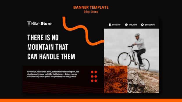 Bannière horizontale pour magasin de vélos