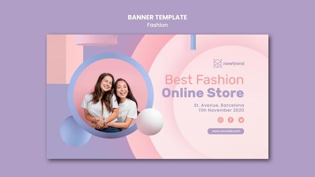 Bannière horizontale pour magasin de vente au détail de mode
