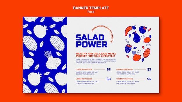 Bannière horizontale pour la puissance de la salade