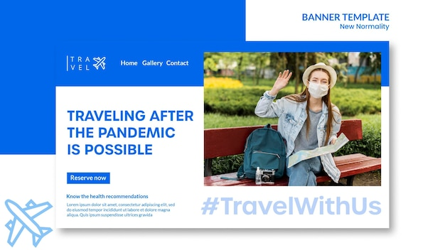 Bannière horizontale pour réservation de voyage