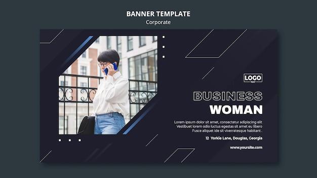 Bannière horizontale pour société commerciale professionnelle