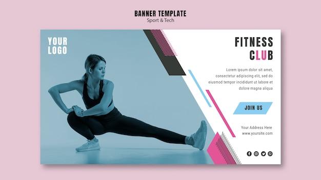 Bannière horizontale pour le sport et le fitness