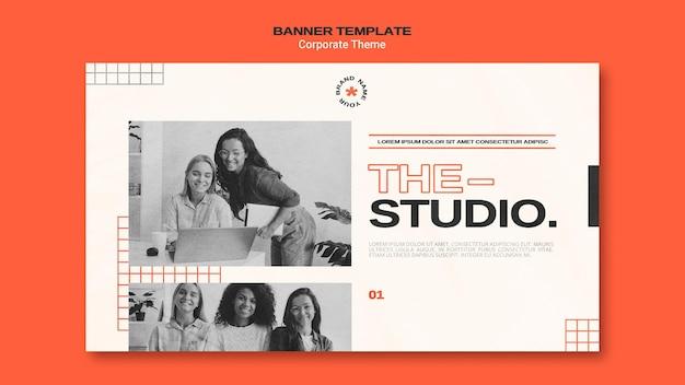 Bannière horizontale pour studio d'entreprise