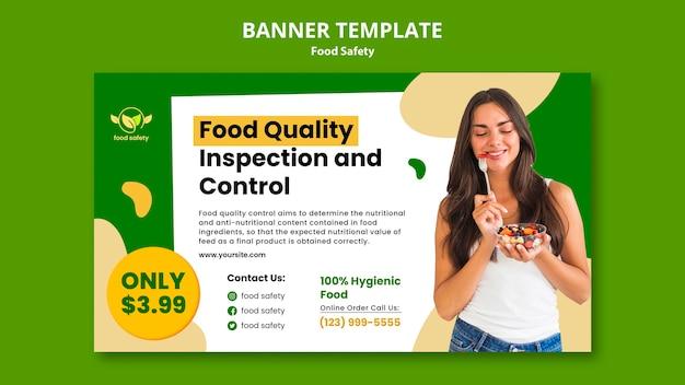 Bannière horizontale de sécurité alimentaire