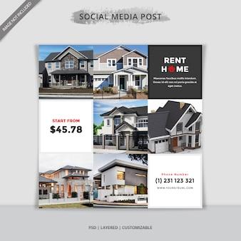Bannière immobilière vente moderne