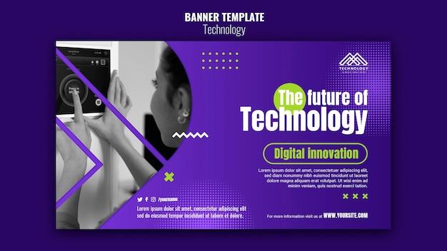 Bannière d'innovation technologique