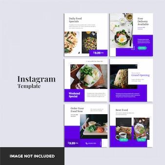 Bannière instagram alimentaire