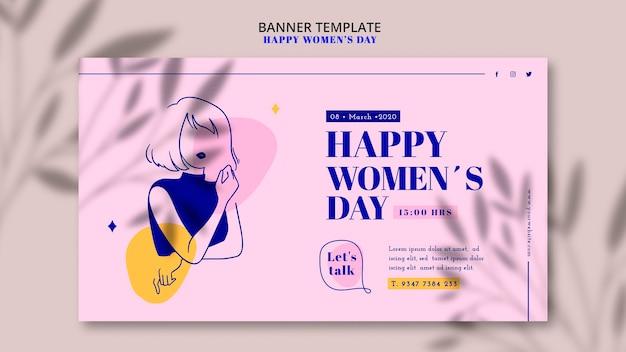 Bannière de jour de femme heureuse