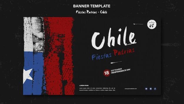Bannière de la journée internationale du chili