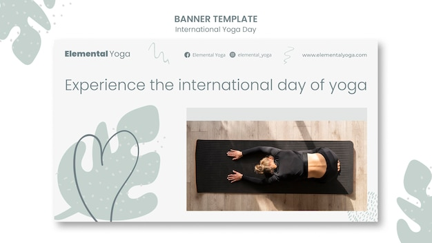 Bannière de la journée internationale du yoga