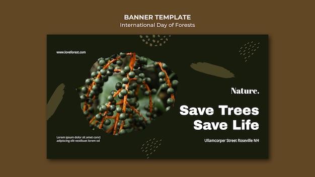 Bannière de la journée internationale des forêts