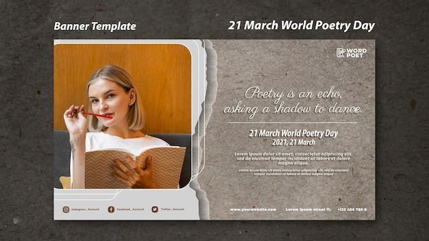 Bannière de la journée mondiale de la poésie