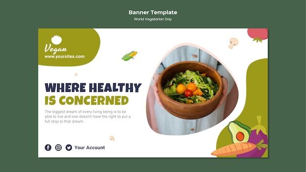 Bannière de la journée mondiale des végétariens