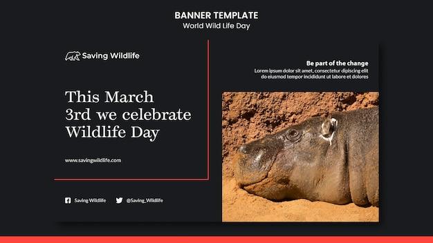 Bannière de la journée mondiale de la vie sauvage