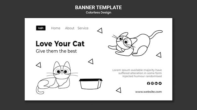 Bannière de la journée nationale du chat