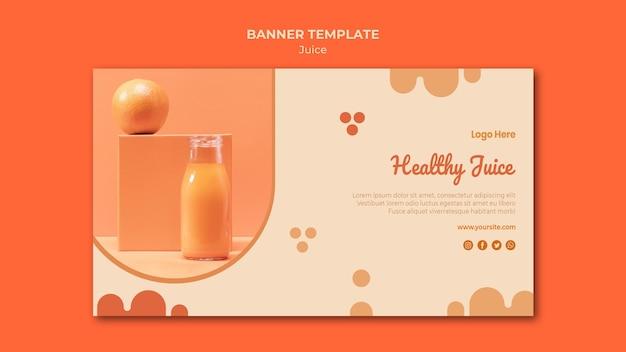 Bannière de jus d'orange avec photo