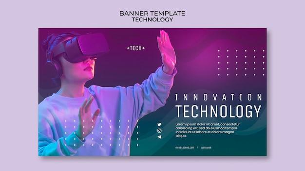 Bannière de lunettes de réalité virtuelle