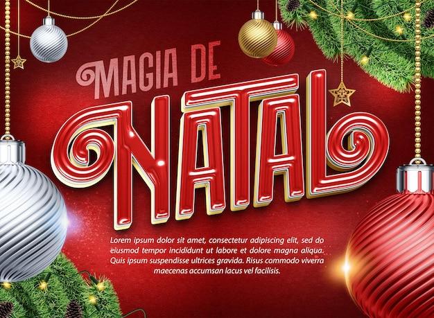 Bannière magique de noël pour les compositions au brésil