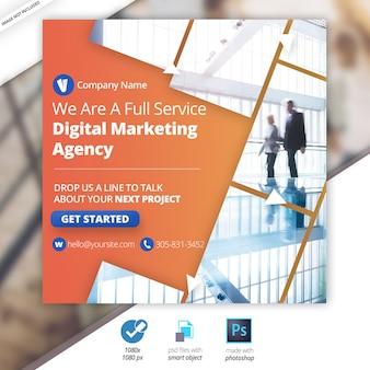 Bannière de marketing social sur les réseaux sociaux