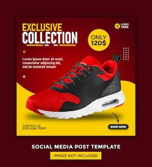Bannière De Médias Sociaux De Chaussures Et Conception De Modèle De Publication Instagram PSD Premium