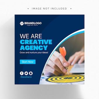 Bannière de médias sociaux d'entreprise créative web