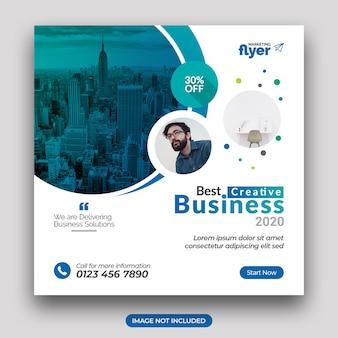 Bannière de médias sociaux de marketing d'entreprise et modèle de publication instagram